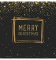 Abstract Christmas frame with golden glitter stars vector image