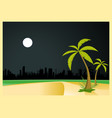 urban beach by night vector image