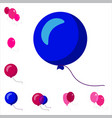 party balloon icons isolated on white background vector image