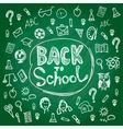 Set back to school Blackboard chalk sketch White vector image