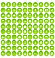100 clothing icons set green circle vector image vector image