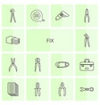 14 fix icons vector image vector image