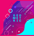 abstract colorful geometric shapes and forms vector image vector image
