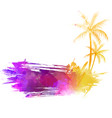 abstract painted grunge splash shape with vector image vector image