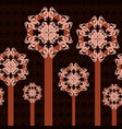 abstract trees ornament vector image
