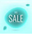 big sale liquid shape banner all in blue colors vector image vector image