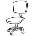 black and white computer chair vector image vector image