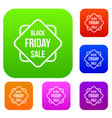 black friday sale sticker set collection vector image vector image