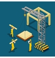 Building Construction Beginning Isometric Banner vector image vector image