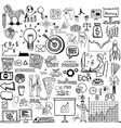 business plan doodle vector image vector image