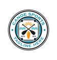 canoe sports logo vector image vector image