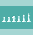 chess piece icons set vector image vector image
