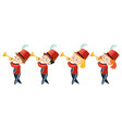 children playing music in band vector image