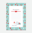 Christmas letter from Santa Claus template vector image vector image