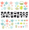 Coffee and tea pots and mugs vector image
