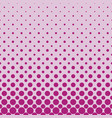 color abstract repeating halftone circle pattern vector image vector image