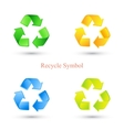 colorful set recycle signs vector image