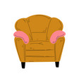 comfortable armchair with pillows cushioned vector image vector image