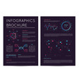 commercial report with various infographics vector image vector image