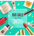 cosmetic big sale banner banner card vector image