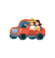 couple in car avatar character vector image