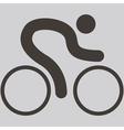 cycling road icon vector image vector image