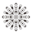decorative mandala tribal art vector image