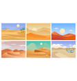desert landscape cartoon tropical exotic vector image vector image