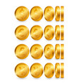 dollar euro pound yen gold coins set isolated on vector image vector image
