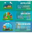 Environmental Pollution Colored Banner Set vector image vector image