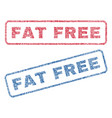 fat free textile stamps vector image vector image