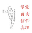 figure a man demonstrates kung fu vector image vector image
