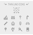 Food thin line icon set vector image vector image