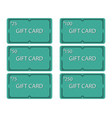 gift card set vintage art deco style with frame vector image