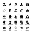 glyph icons project management vector image vector image