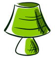 green lamp drawing on white background vector image vector image