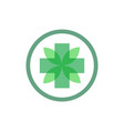 health circle leaf logo vector image vector image