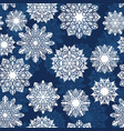 indigo blue ornamental snowflake seamless vector image vector image