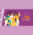 international jazz day poster of live music band vector image vector image