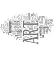 is photography art text background word cloud vector image vector image