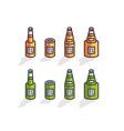 isometric beer bottles vector image vector image
