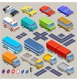 Isometric road set vector image vector image