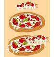 Italian handmade pizza 1 vector image vector image