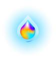 liquid drop logotype concept icon vector image vector image