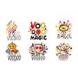 magic voodoo original design logo collection vector image