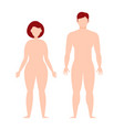 male and female body silhouette template flat vector image vector image