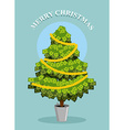 Merry Christmas MoneyTree Greeting card with vector image vector image