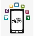Mobile applications entertainment vector image vector image