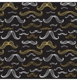 Mustaches seamless pattern Hand drawn elements vector image vector image