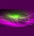 neon glowing magic background neon banner night vector image